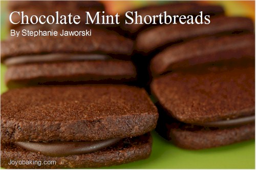 Chocolate Mint Shortbreads Recipe