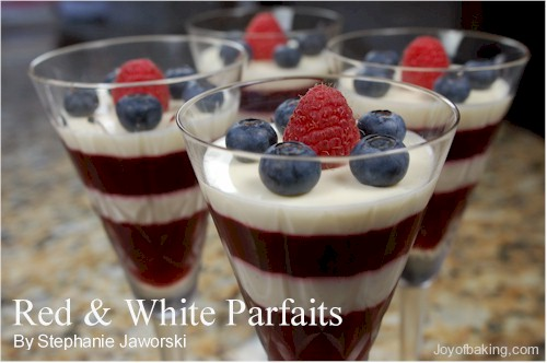Red and White Parfaits Recipe