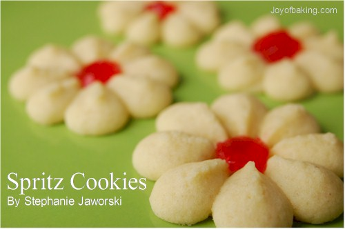Spritz Cookies Recipe - Joyofbaking.com *Video Recipe*