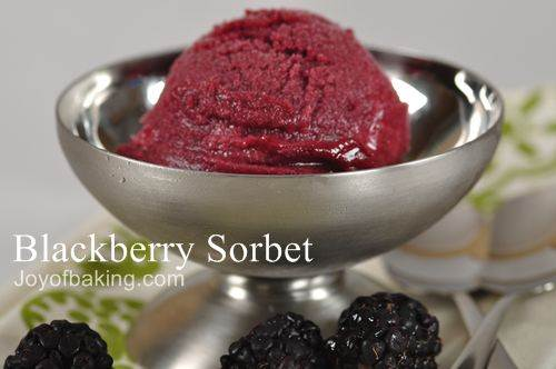 Blackberry Sorbet Recipe
