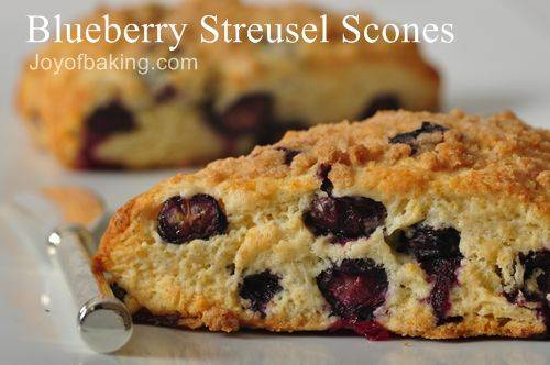 Blueberry Streusel Scones Recipe