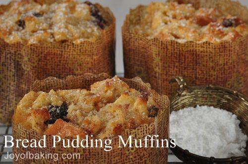 Bread Pudding Muffins Recipe