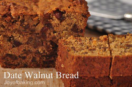 Date Walnut Bread Recipe